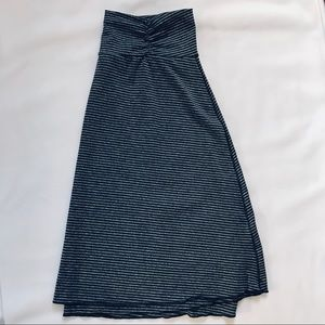 tranquility Skirts - Tranquility Gray Black Striped Stretch Skirt